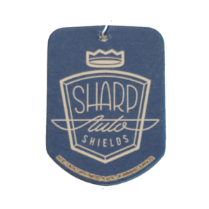 blue sharp auto shields car air freshener