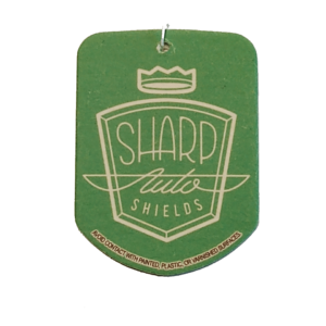 green sharp auto shields car air freshener